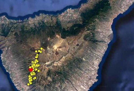 Tenerife earthquake swarm