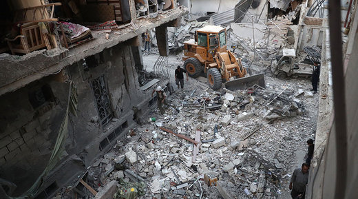 Destroyed Syrian buildings