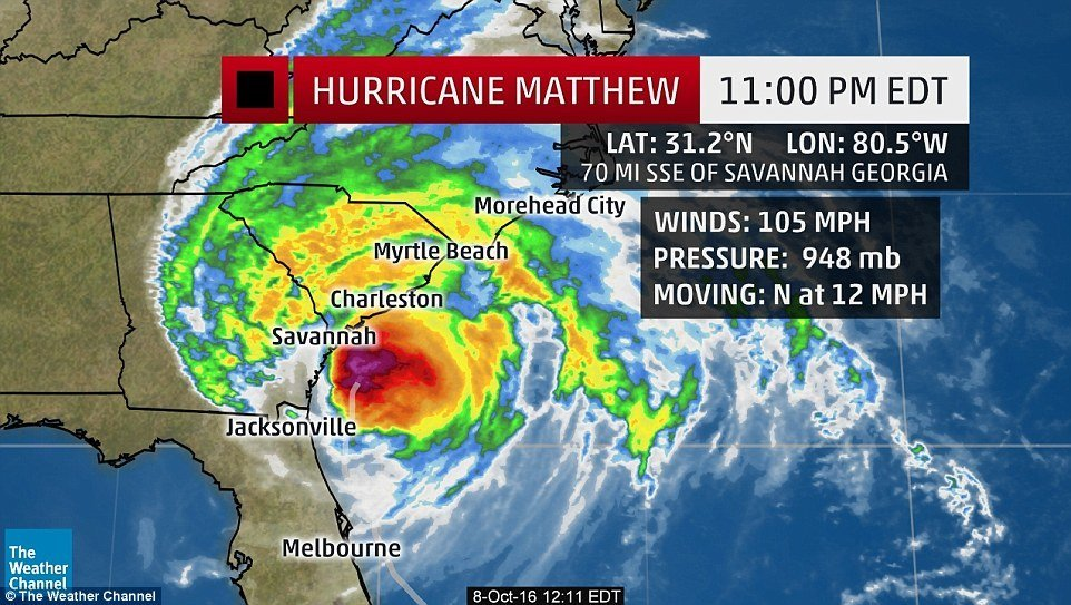 hurricane matthew threatens florida to north carolina with dangerous flooding  three dead and