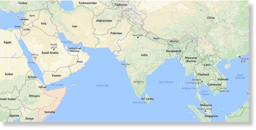 Somalia, Jemen i szlak morski na wschód
