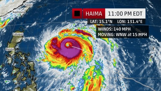 Philippines braced for Typhoon Haimi