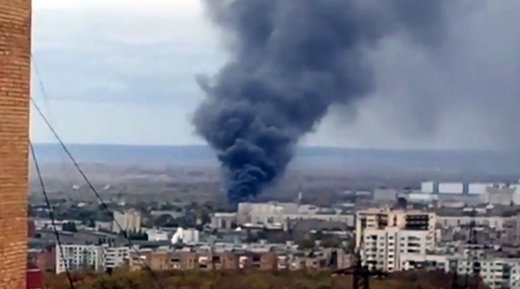 Fire breaks out on premises of Russian space rocket center