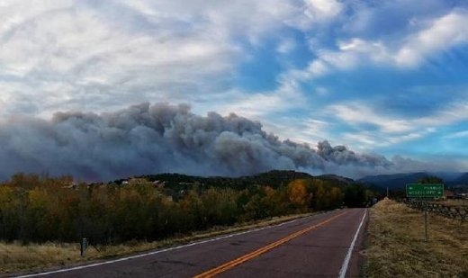 25 square miles and 5 homes lost to wildfire in Custer County, Colorado