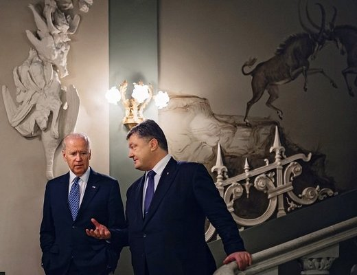 Ukrainian President Petro Poroshenko meets with Vice President of the United States Joe Biden