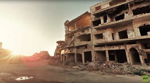 'Silent and lifeless': Apocalyptic 360 video of a Syrian city in ruins