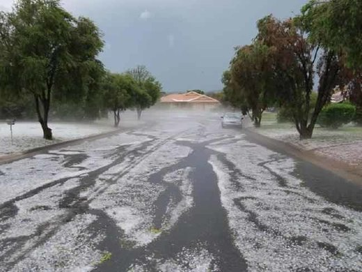 Freak hailstorm rips through town in New South Wales, Australia