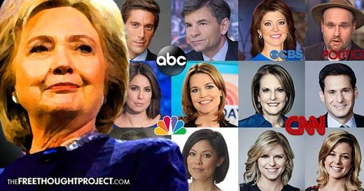 Hillary and Media cheerleaders