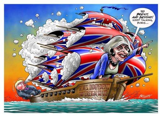 Brexit ship cartoon