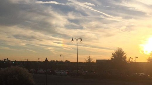Sun dog in Nashville, TN
