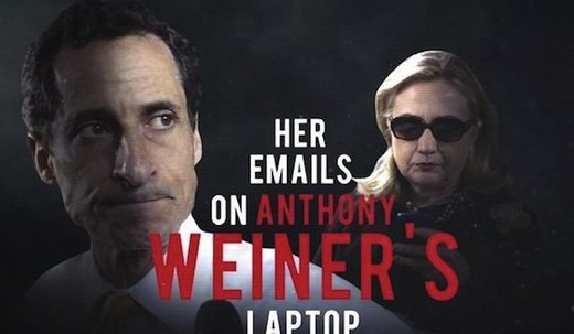 Breaking sex scandal from Weiner's laptop may be the smoking gun that will bring down the Clintons for good