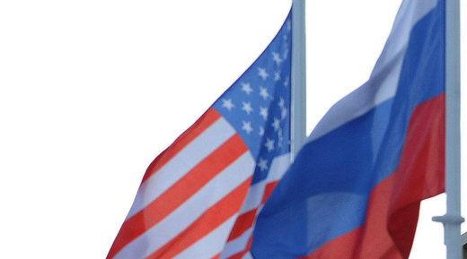 russian-US flags