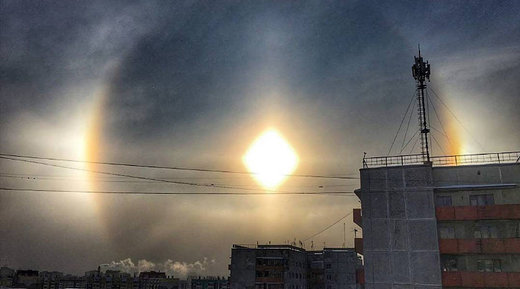 Sun dog in Russia