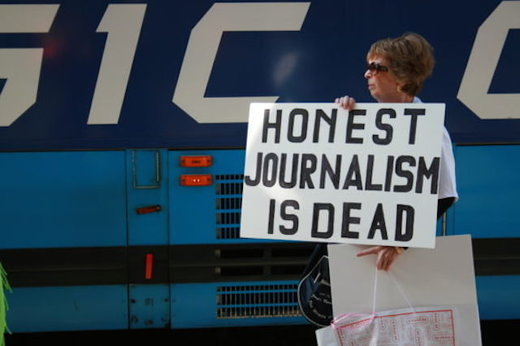 Honest journalism protester