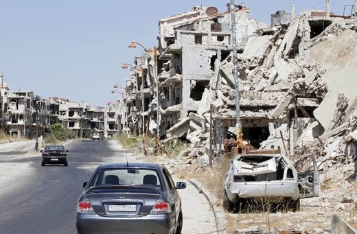 Homs destruction