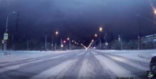 Two large flashes light up night skies over Surgut, Western Siberia