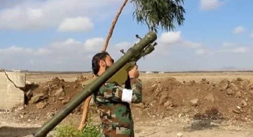 Syrian militant with manpad