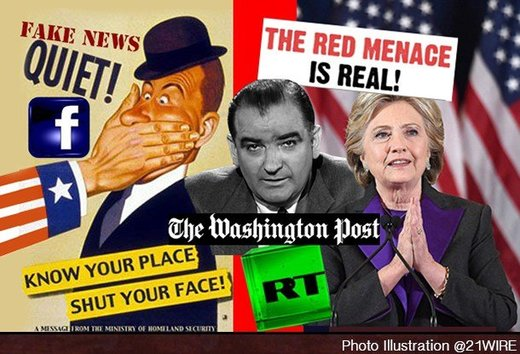 Washington Post's Sloppy 'Journalism' Blames Russia for 'Fake News' Crisis and Trump's Win, While Pushing Neo-McCarthyism