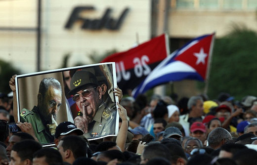 Almost a million people gather in Havana to pay respects to Cuban revolutionary leader Fidel Castro