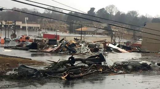 'Disaster zone': Tornadoes kill at least 5 in southeast US states