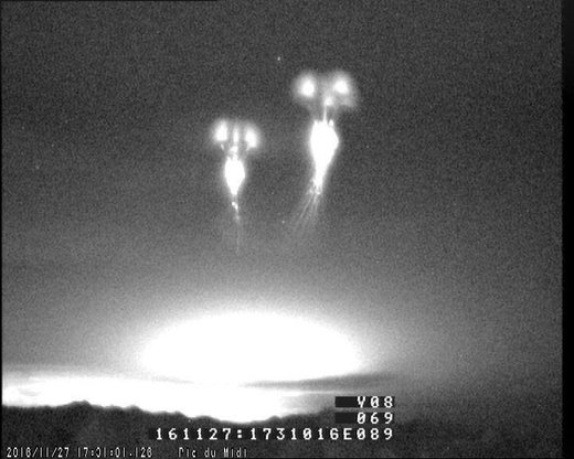 Increased activity of ethereal sprites over Spain during recent thunderstorms