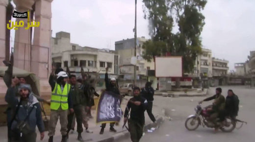 White Helmets in Aleppo with terrorists