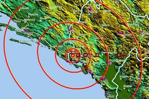 Shallow earthquake of magnitude 4.4  felt in Dubrovnik, Croatia