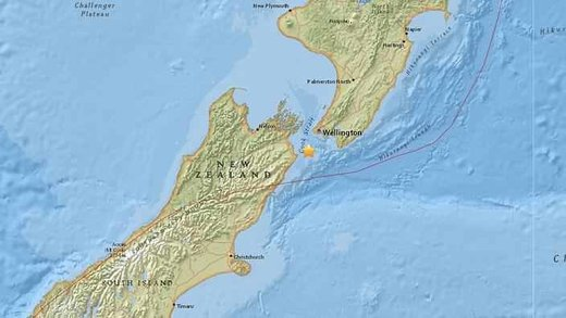 New Zealand's south island quake map