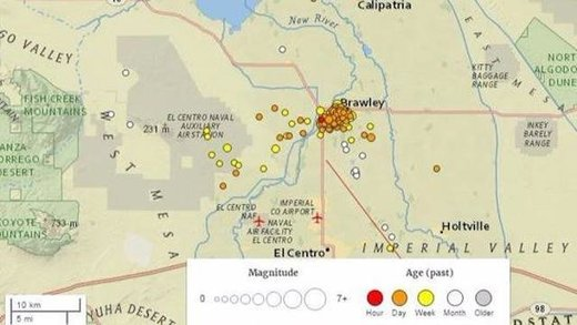Earthquakes continue at California-Mexico border, 250 small quakes since New Year's Eve