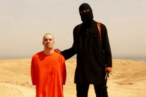 Journalist James Foley shortly before he was executed by an Islamic State operative