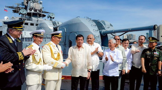 Duterte welcomes the Russian Navy in the Philippines (VIDEO)