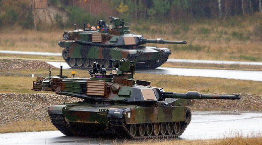 100's of US tanks and heavy equipment flows into Europe to counter 'Russian aggression' - Money for war but none for US health, education and infrastructure