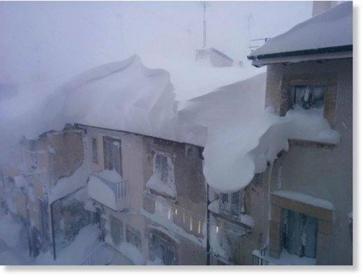 Heavy snowfall in Italy