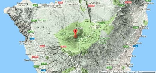 Magnitude 3 earthquake recorded under Teide volcano, Canary Islands