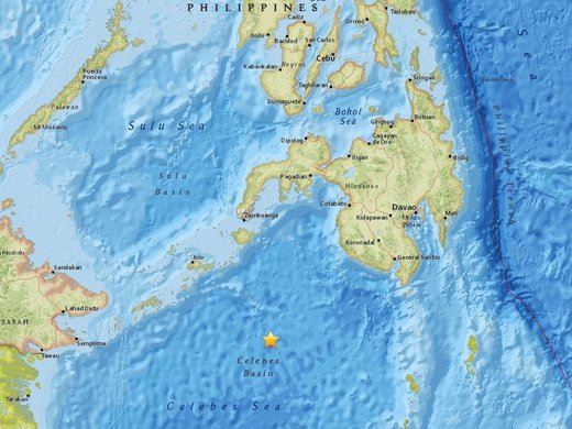 Strong 7.3 magnitude undersea earthquake strikes near the Philippines