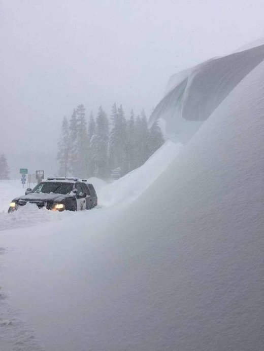 Interstate 80 remains closed as blizzard dumps 10 feet of snow on Sierra, California