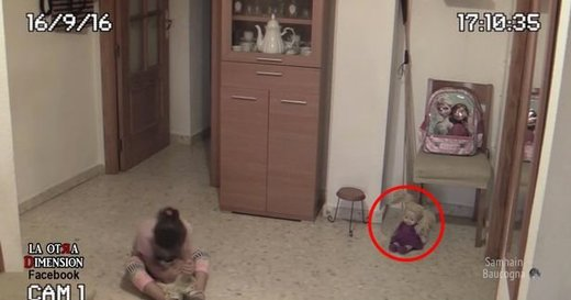 Alleged poltergeist phenomena surrounding young girl captured in home security footage