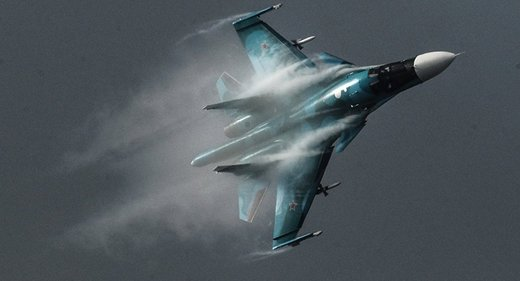 Russian SU-34 fighter jet