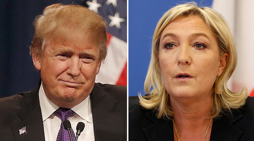 French presidential candidate Marine Le Pen spotted at Trump Tower