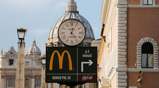 Vatican McDonald's promises to give free meals to the poor