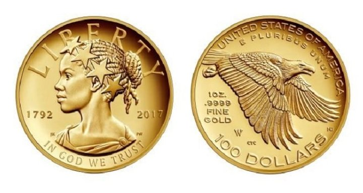 Black Lady Liberty To Feature On Us 100 Commemorative Gold