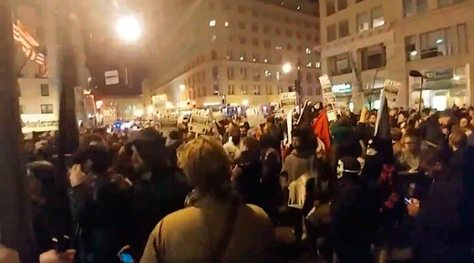 Police, protesters clash outside of the #DeploraBall in DC ahead of Trump inauguration