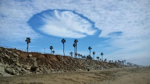 Hole punch clouds in SoCal