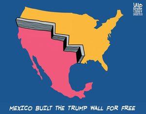 wall mexico border cartoon