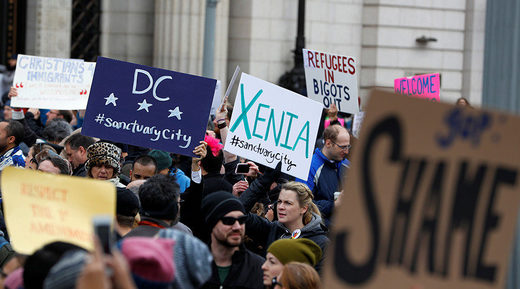 protesters trump muslim ban immigration