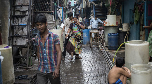 slums in Mumbai