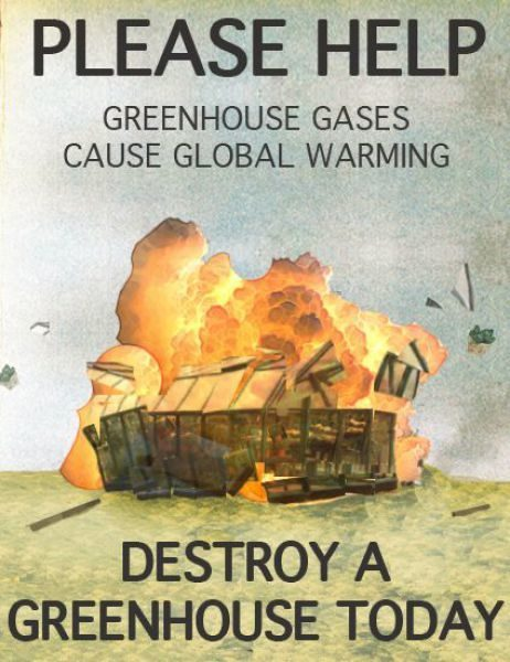 greenhouse gases cartoon