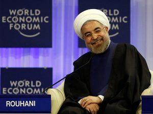 """© Unknown -- Hasan Rouhani, prezydent Iranu: """"Ameryko, rozszyfrowaliśmy zasady twojej gry. Teraz nadszedł nasz czas""""."""