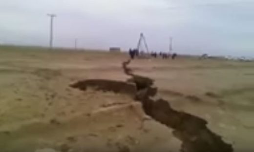 Pakistan earth crack