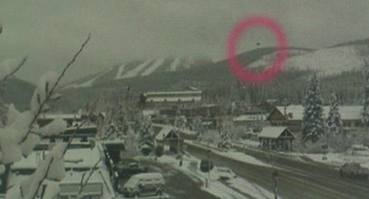 Did a spaceship fly past Colorado ski resort?
