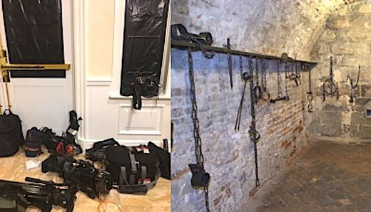 That fascist dictator Donald Trump locked reporters in windowless torture dungeon!